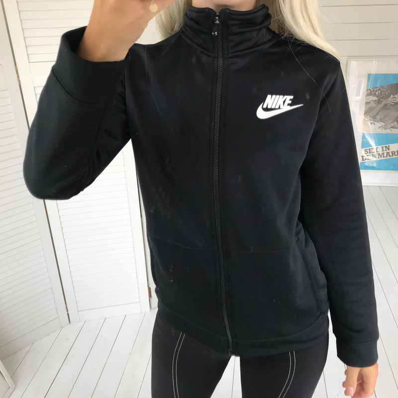 Vintage Y2K Black Nylon Nike Zip Up Tracksuit Jacket