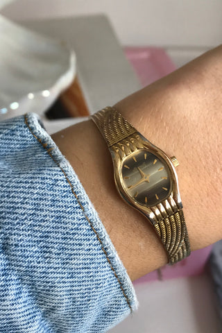 Rare Vintage 1960s Gold Plated Mechanical Wrist Watch