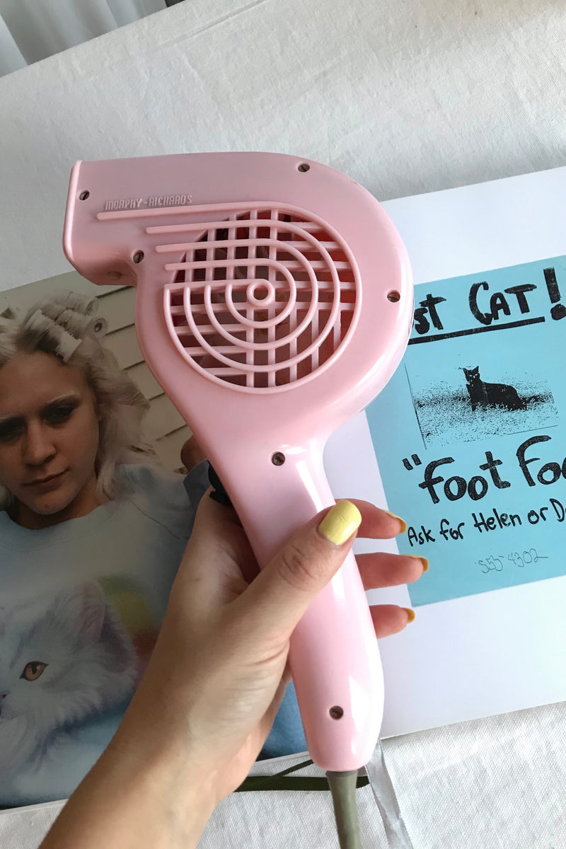 "Vintage 1960s Morphy Richards ""Noiseless"" Baby Pink Hairdryer"