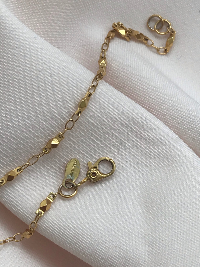 Vintage 90s Gold Tone Thin Chain Necklace By Monet