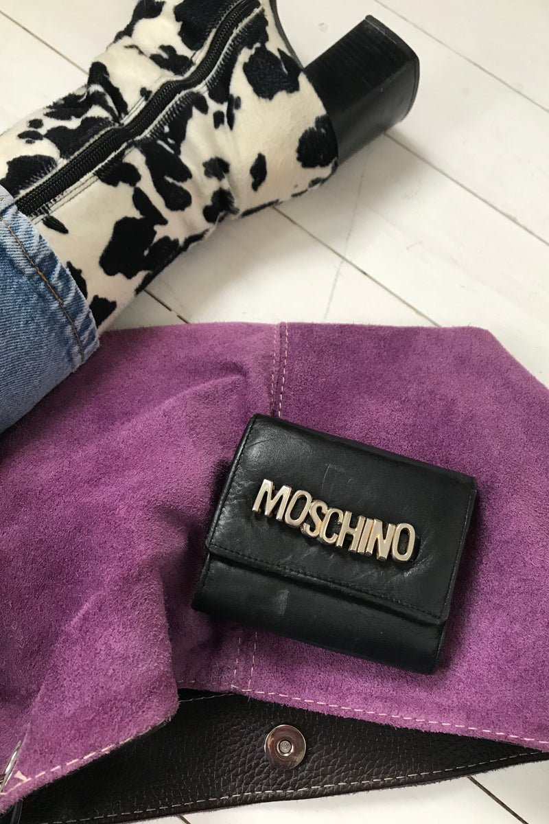 Vintage 90s Bootleg Moschino Real Leather Purse
