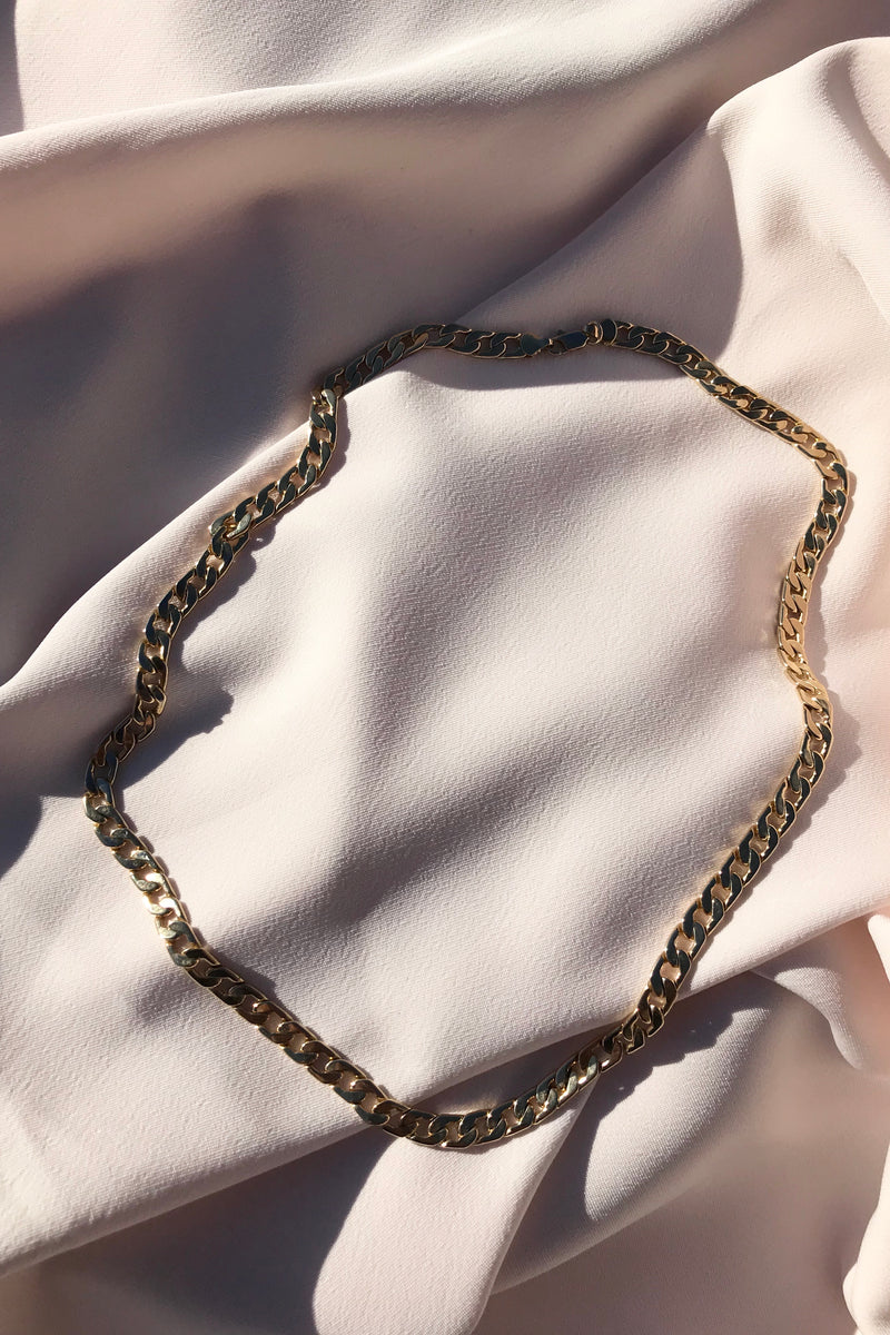 The most incredible Vintage 90s Gold Plated Chunky Chain Necklace