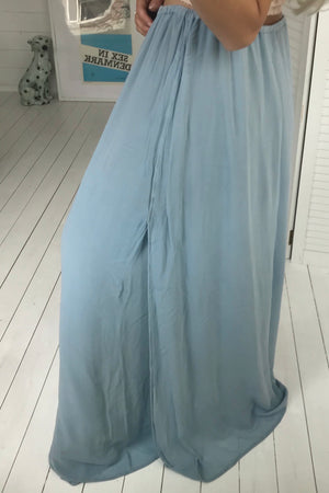 Vintage 90s Powder Blue Floor Length Dress By GHOST