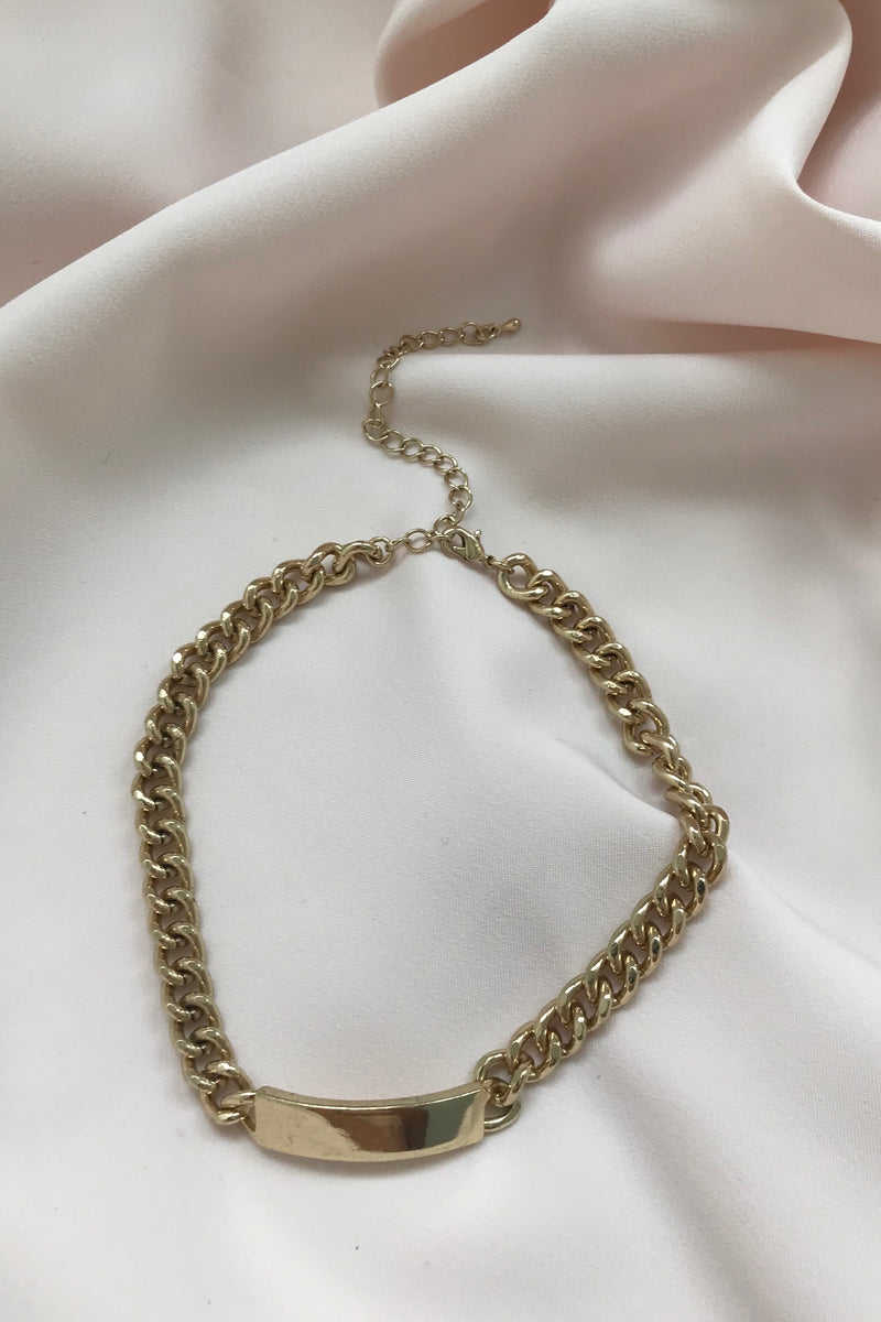 Vintage 90s Y2K Chunky Gold Tone Chain Choker Necklace