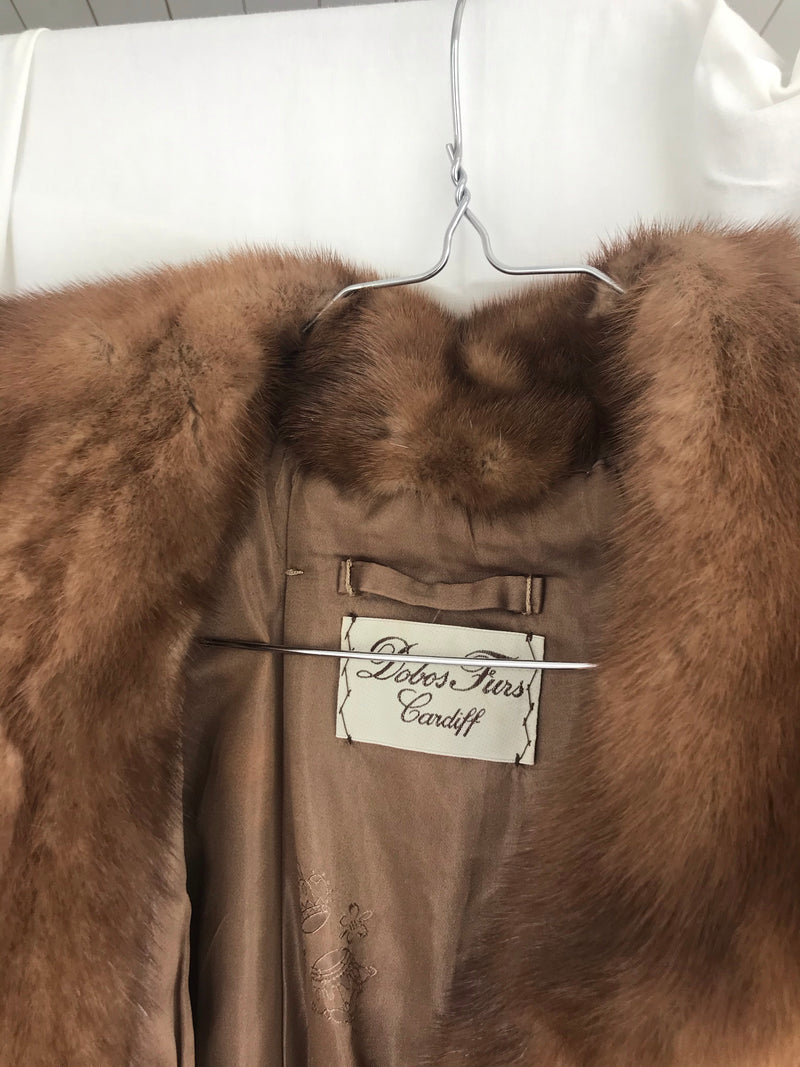 Rare Premium Vintage 50s Brown Mink Fur Jacket