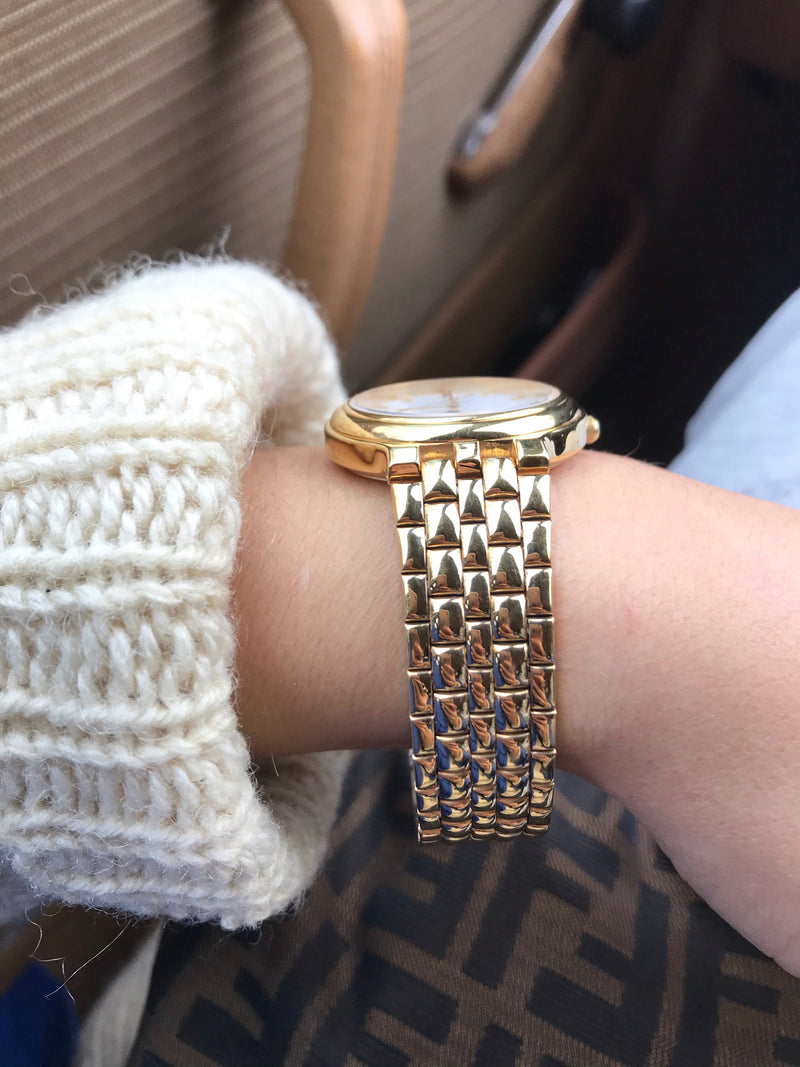 Vintage 90s Chunky Gold Tone Wrist Watch