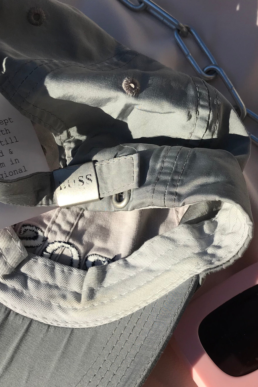 Vintage Y2K Grey Hugo Boss Baseball Cap