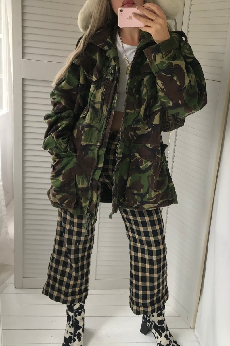 Vintage 90s Green Camo Army Oversized Jacket