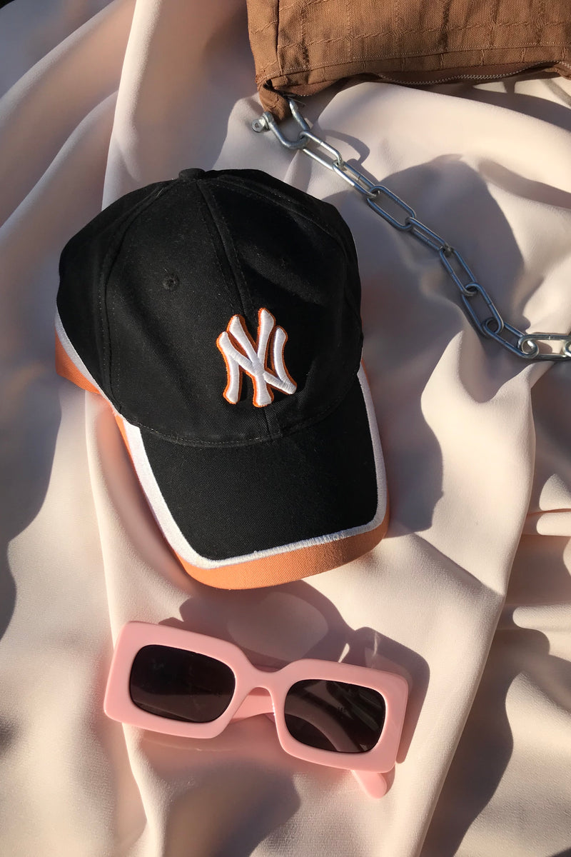 Vintage Y2K NY Black & Orange Yankees Baseball Cap