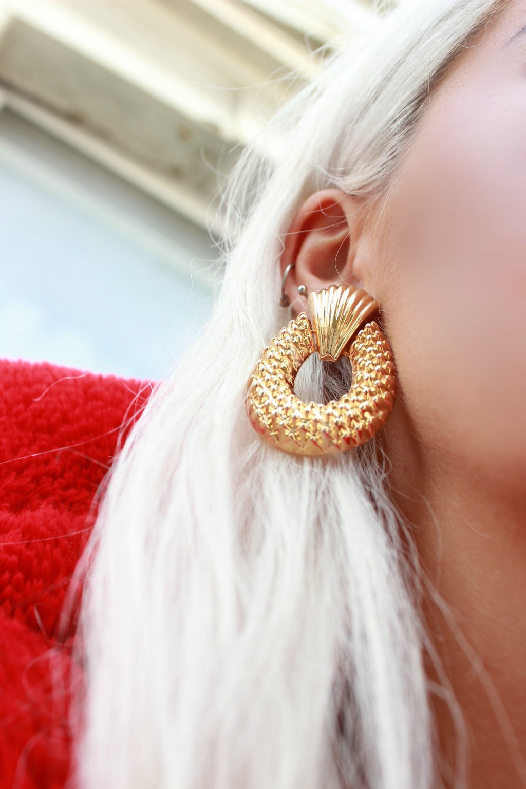 Statement Oversized Gold Door Knocker Earrings