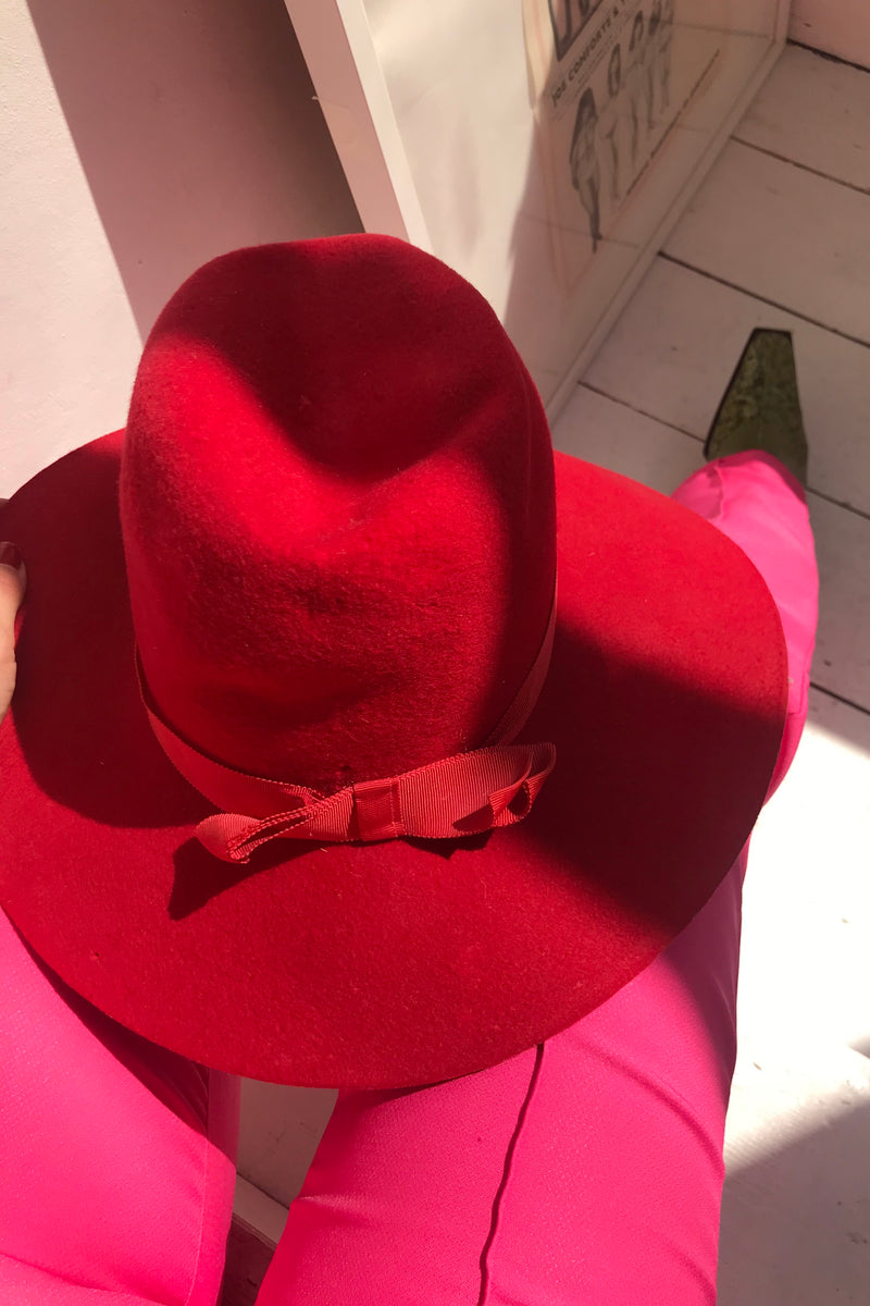 The most stunning Rare True Vintage 70s Felt Wide Brim Fedora Hat