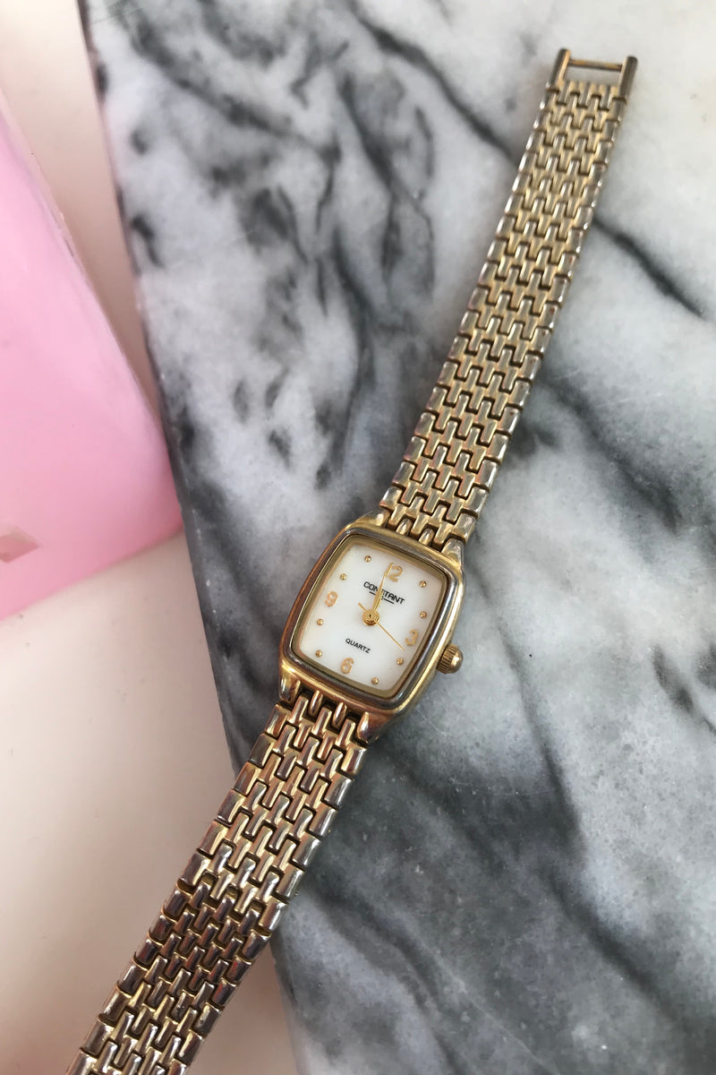 Vintage Ladies Quartz Gold Tone Wrist Watch