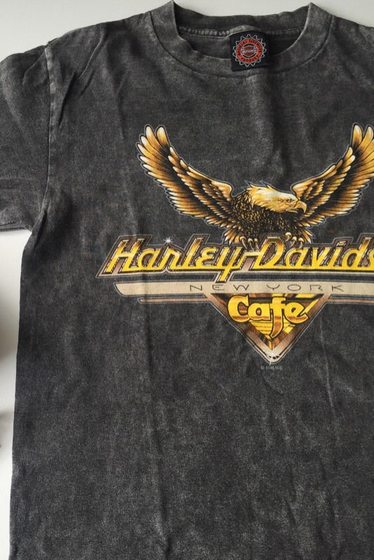 Vintage 90s Faded Black / Grey Harley Davidson T-Shirt
