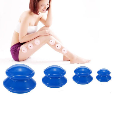 4pcs Silikon Massage Tasse