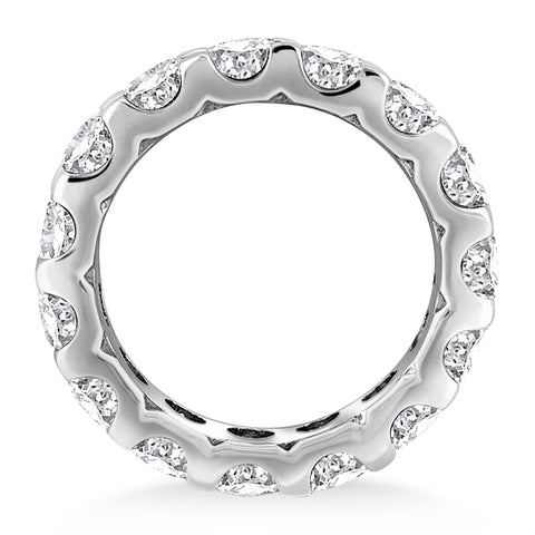 14k White Gold Round Diamond Studded Eternity Ring