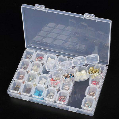 Image of 28-Slot Break-Apart Diamond Storage Box