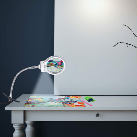 Magnifying Glass with LED Light & Table Clip
