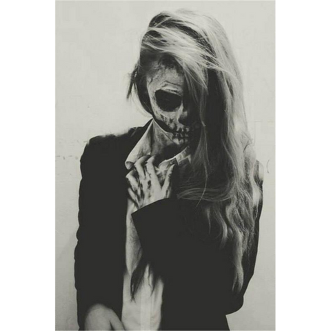 Black and White Zombie Lady