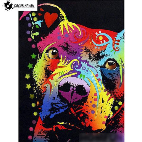Image of Colorful dogs