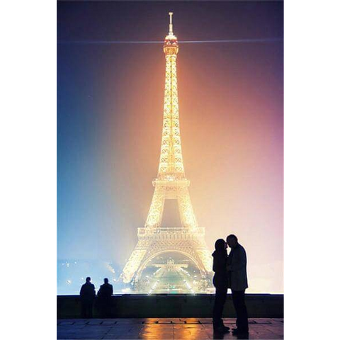 Image of Eiffel Tower Kiss