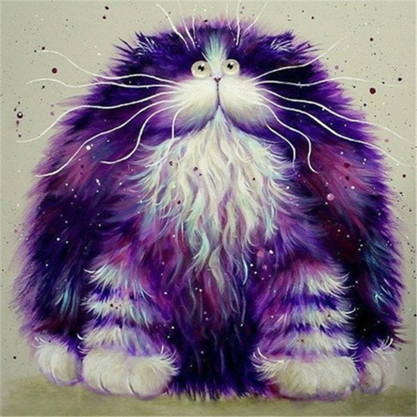 Furry Purple Cat