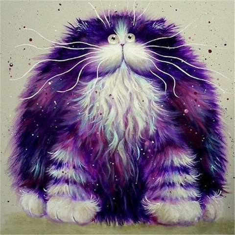 Image of Furry Purple Cat