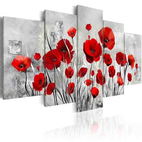 Image of 5-Piece Beautiful Poppies