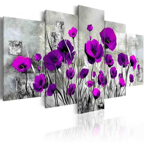 5-Piece Beautiful Poppies