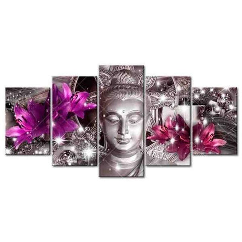 Image of 5-Piece Silver Buddha