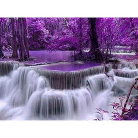 Purple Waterfalls