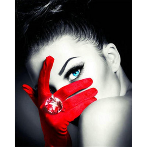 Red Gloved Woman