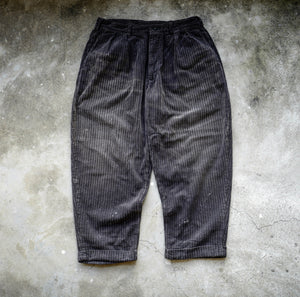 6.HANGEReering WASHED CORDUROY PANTS (DRIPS) -- CHARCOAL