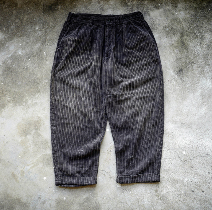 1.  HANGEReering WASHED CORDUROY PANTS (DRIPS) -- CHARCOAL
