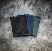 HANGEReering WASHED POCKET TEE -- NAVY