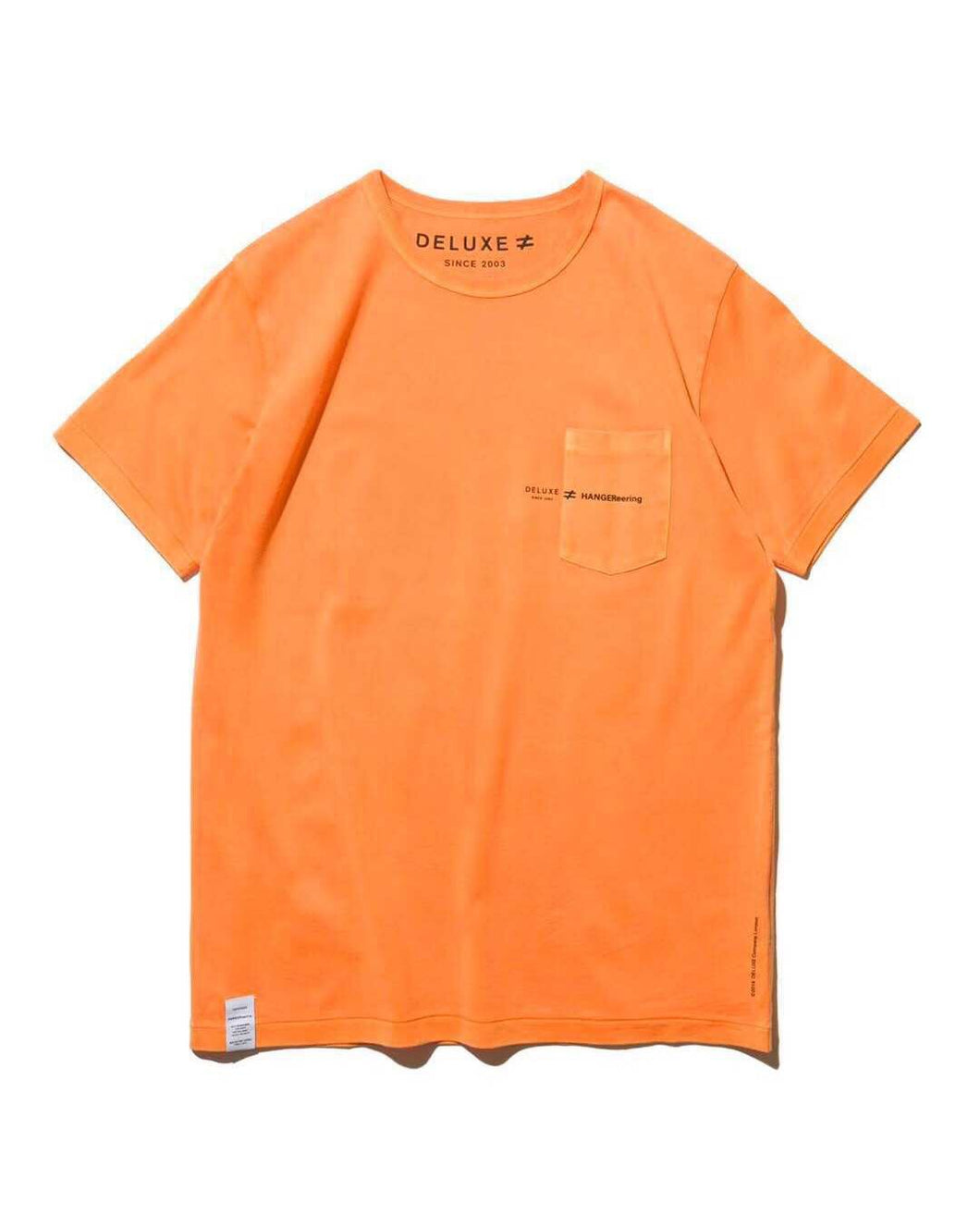 5.DELUXE JP x HANGEReering POCKET TEE SS -- ORANGE