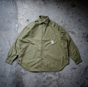 1.   HANGEReering® BIG SHIRT LS (COLLAR) - OLIVE
