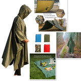 3 In 1 Outdoor military waterproof raincoat poncho