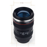 Stainless Steel Camera Lens Travel Mug
