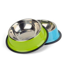 Stainless Steel Dog Bowl Pet Feeding Supplies Cat Puppy Feeder Outdoor Driking Water Dish Food Bowl For Small/Medium Dogs S/M/L