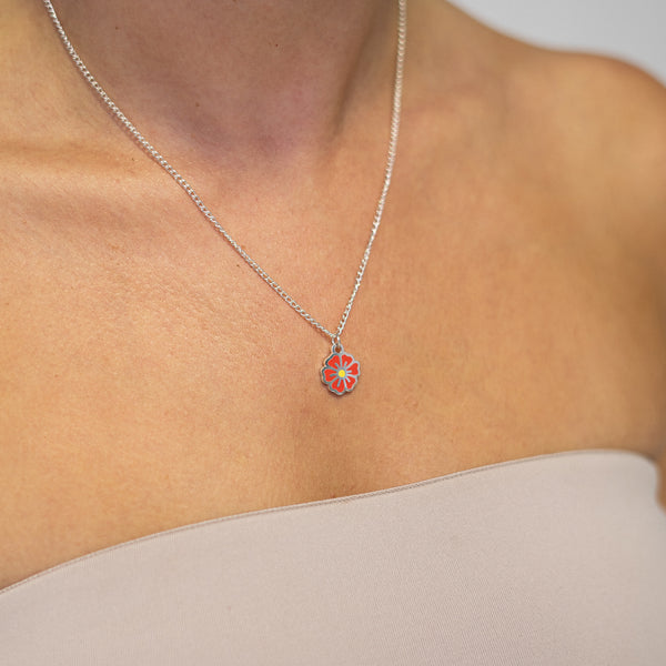 "Red ""Dream Big"" Blossom Necklace - MartinaMartian"