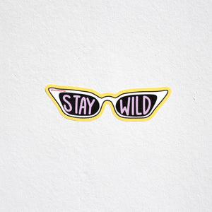 """Stay Wild"" Sticker"