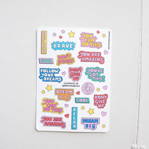 """Positivity"" Sticker Sheet - MartinaMartian"
