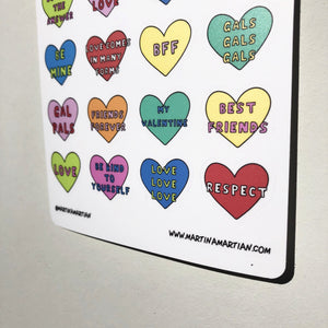 """Love"" Vinyl Sticker Sheet"