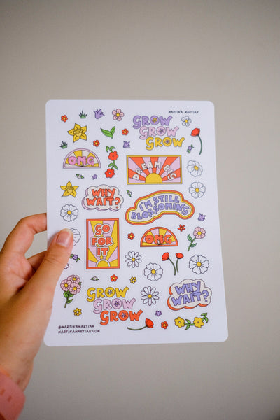 2019 Blossom Vinyl Sticker Sheet - MartinaMartian