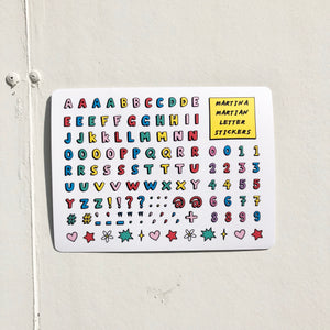 Letter Sticker Sheet
