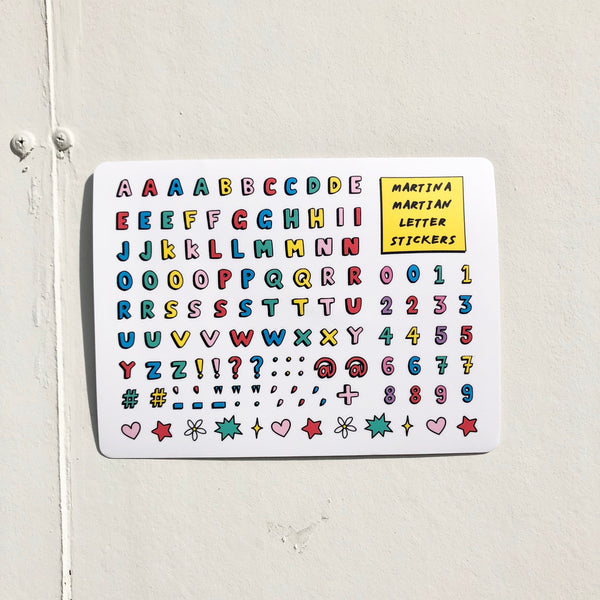 Letter Vinyl Sticker Sheet