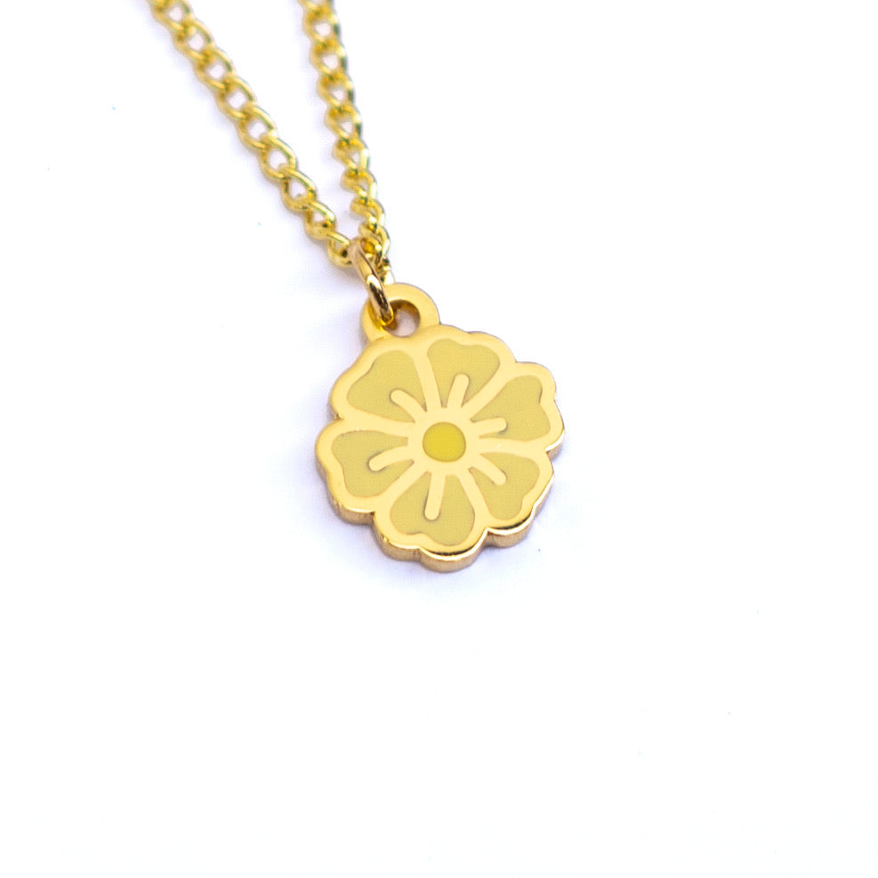 "Yellow ""You've Got This"" Blossom Necklace - MartinaMartian"