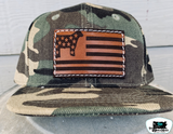 Leather Patch Adult Throwback Caps