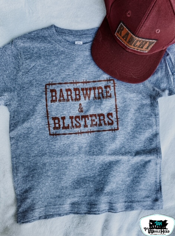 Barbwire & Blisters Kids Western Graphic Tee
