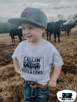 Callin' Shots & Cows Kids Western Graphic Tee